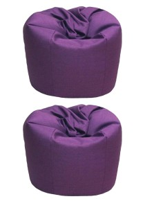 2 Units XL Bean Bag with 2 Pillows (Purple)