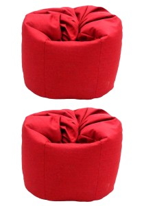 2 Units XL Bean Bag with 2 Pillows (Red)