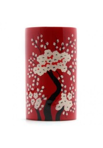 Oriental Tree Lacquered Chopsticks/Small Utensil Holder (Red)