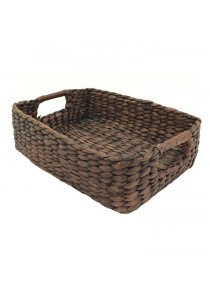 Weave & Woven Rectangular Storage Tray (Brown) - Large