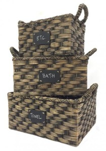 Weave And Woven Round Basket (Natural)