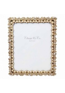 "Classic & Co. Photo Frame 8"" x 10"" (Gold & Pearl Bead) ZD4091-80"