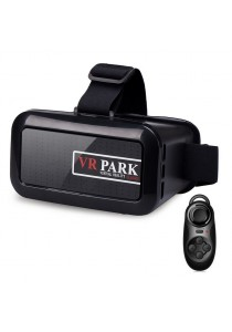 VR Park V1 3D Virtual Reality Glasses for Game and Movie With Bluetooth Remote Controller (Black)