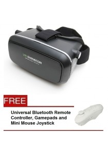 VR Shinecon Virtual Reality Headset 3D Glasses Gear With Bluetooth Remote Controller + Remote Controller