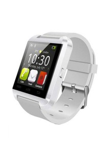 U8 Uwatch Bluetooth Smartwatch Touch Screen for Android and iPhone (White)