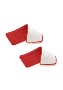 [Twin Pack] 2 Pcs of Reusable Spray Mop Microfiber Pads (Red)