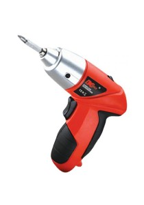 DC TOOLS 45 Pcs Power Tools Cordless Electric Screwdriver & Drill with LED Light (Red)