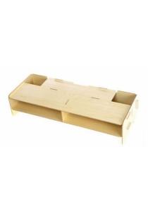 YUI Easy DIY Wooden Eco Friendly Monitor Riser Storage Organizer (Beige)