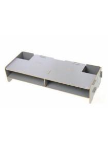 YUI Easy DIY Wooden Eco Friendly Monitor Riser Storage Organizer (Grey)