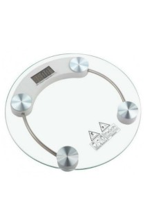 Tempered Glass Digital Round-Shape Scale Bathroom Body Weight Scale 150kg