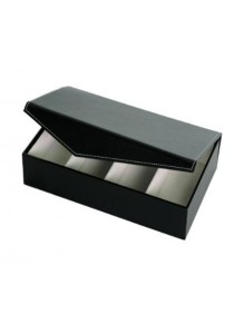 4 Slots PU Leather Sunglasses / Spectacular Storage Box (Black)