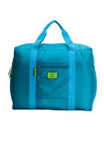 Korean M Square Foldable Nylon Water-Resistant Travel Luggage Bag (Aqua Blue)