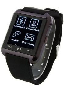 U8 Uwatch Bluetooth Smartwatch Touch Screen for Android and iPhone (Black)