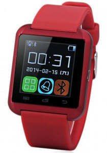 U8 Uwatch Bluetooth Smartwatch Touch Screen for Android and iPhone (Red)