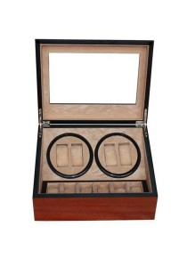 Luxury 4+6 Wooden Watch Winder (Cherry Wooden)