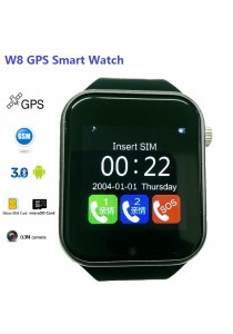 W8 GPS Bluetooth Camera Sim Card TF Card Smart Watch Phone Support Android