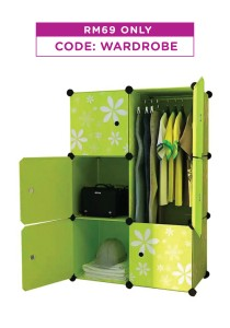 Tupper Cabinet 6 Cubes DIY Wardrobe