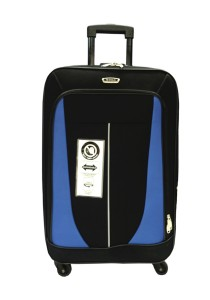 Waterpolo WE1591 - 20 Inch Anti-Theft EVA Trolley Case (Black/Blue)