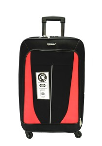Waterpolo WE1591 - 24 Inch Anti-Theft EVA Trolley Case (Black/Red)