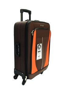 Waterpolo WE1591 - 20 Inch Anti-Theft EVA Trolley Case (Coffee/Orange)