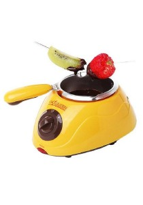 Chocolatiere Fondue Machine & Decorating Kit Set (Yellow)