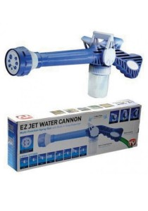 EZ Jet Pressure Water Gun 8 Adjustable Nozzles Liquid Dispenser (Blue)