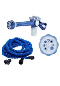 Ez Jet Water Cannon + 50 Ft Expendable X Hose for Garden Car Wash with Soap Dispenser