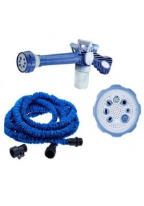Ez Jet Water Cannon + 75 Ft Expendable X Hose for Garden Car Wash with Soap Dispenser