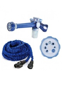 Ez Jet Water Cannon + 100 Ft Expendable X hose for Garden Car Wash with Soap Dispenser