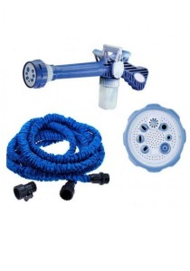 Ez Jet Water Cannon + 25 Ft Expendable X Hose for Garden Car Wash with Soap Dispenser