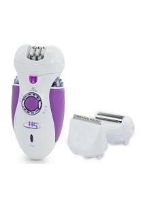 3-In-1 Ladies Rechargeable Electric Epilator & Shaver HS-3066 (Purple)