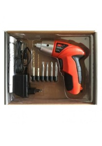 DC-S019 Electric Cordless Screwdriver Wireless Power Tools Drill Set (8 Pcs)