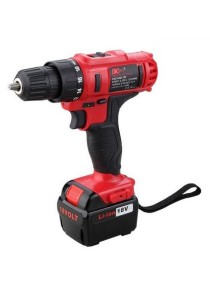 DCTOOLS 18V Electric Power Tool Drill DC-D017 18V Rechargeable And Cordless (Red)