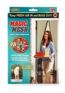 Magic Mesh Screen Door Magnetic Anti Mosquito Bug Doors Curtain Net 1 Set