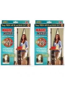 Magic Mesh Screen Door Magnetic Insect Net 2-Set