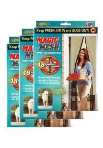 Magic Mesh Screen Door Magnetic Anti Mosquito Bug Doors Curtain Net 3-Set