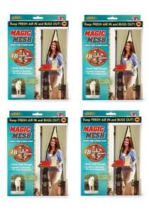 Magic Mesh Screen Door Magnetic Anti Mosquito Bug Doors Curtain Net 4-Set