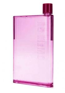 A5 Memobottle BPA FREE Stylish Memo Water Bottle 420ml (Pink)