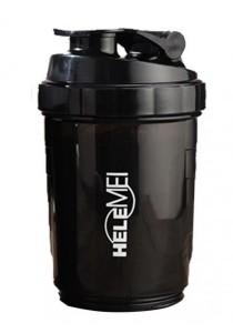 HeleMEI 500ml Smart Shake Gym Protein Shaker Sports Bottle (Black)