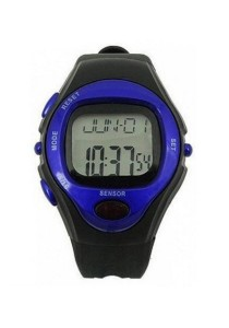 Pulse Sports Watch with Heart Rate Monitor and Calorie Report (Blue)