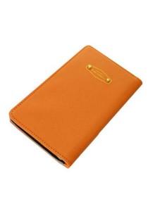 Momorain Korea Stylish Iconic Anti Skimming Leather Passport Holder (Orange)