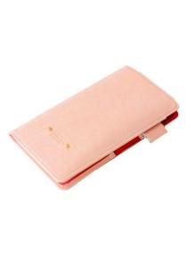 Momorain Korea Stylish Iconic Anti Skimming Leather Passport Holder (Pink)