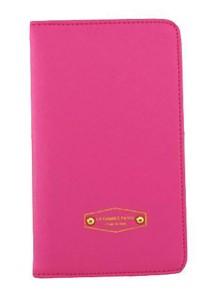 Momorain Korea Stylish Iconic Anti Skimming Leather Passport Holder (Rose Pink)