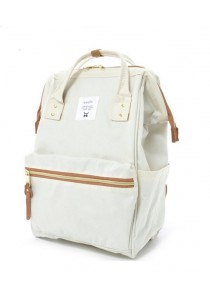 100% Authentic Anello (Regular) Backpack - Polyester Canvas White