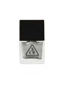 3CE Nail Lacquer (10ml) [SD01 - Matte Silver With Foil Finish]