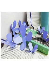 Walplus 36pcs 3D Lavender Blossom Wall Stickers