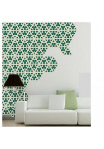 Walplus Combo Wall Flexi Green Triangle Geometry Pattern Wall Stickers