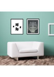 Walplus Combo Frame - 3D Hollow Cross & True Sign of Intelligence Wall Stickers