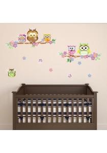 Walplus Colorful Owl Wall Stickers with 38pcs Authentic Swarovski Element (Luxury)