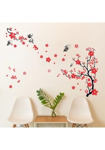 Walplus Chinese Red Blossom Wall Stickers with 38pcs Authentic Swarovski Element (Luxury)